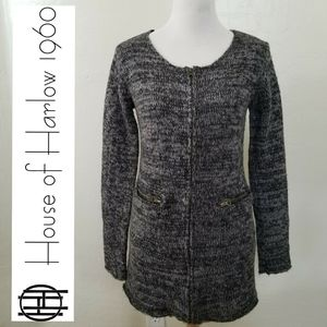 HOUSE OF HARLOW 1960 Zip up tunic sweater LARG GUC